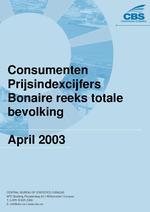Consumenten Prijsindexcijfers April 2003