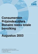 Consumenten Prijsindexcijfers Augustus 2003