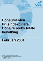 Consumenten Prijsindexcijfers Februari 2004