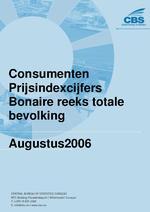 Consumenten Prijsindexcijfers Augustus 2006