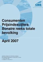 Consumenten Prijsindexcijfers April 2007