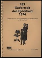 CBS onderzoek Deeltijdarbeid 1994