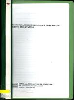 Arbeidskrachtenonderzoek Curacao 1996