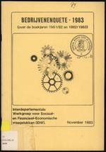 Bedrijvenenquete 1983 (over de boekjaren 1981/82 en 1982/1983)