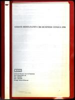 Eerste Resultaten CBS Business Census 1998