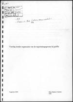 Verslag inzake organisatie van de registratiegegevens bij griffie