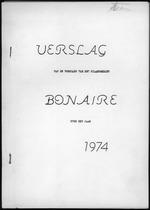 Verslag van de toestand van het eilandgebied Bonaire over het jaar 1974