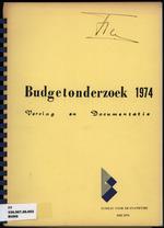 BudgetOnderzoek 1974, Benedenwindse eilanden