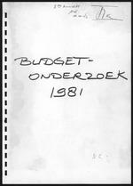 BudgetOnderzoek 1981, 2de Konsept