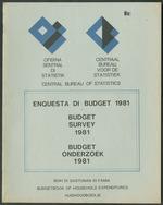 Enquesta di Budget 1981