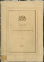 Verslag van de toestand van het eilandgebied Curacao 1953