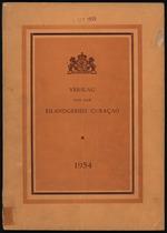 Verslag van de toestand van het eilandgebied Curacao 1954