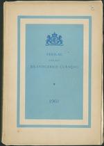 Verslag van de toestand van het eilandgebied Curacao 1961